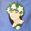 Detalle del rostro de la Hawaiana