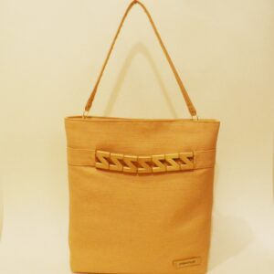 Bolso shopper color dorado