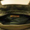 Interior bolso de mano verde