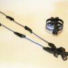Conjunto de bisutería Iguazú Azul de collar-medallón y pulsera
