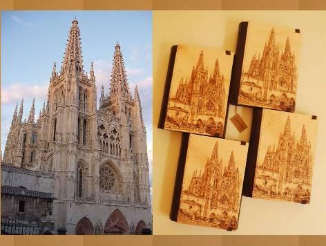 Pirograbado Catedral de Burgos