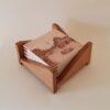 Juego de posavasos serie Europa Central Caja de madera clara